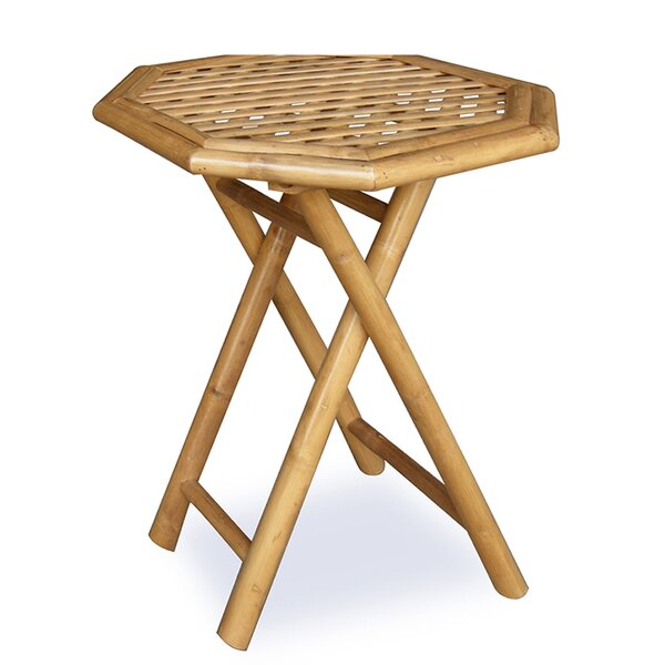 Ervine Octagonal Folding Bamboo End Table by Bay Isle Home