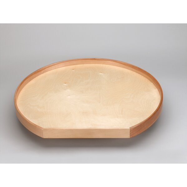 Natural Wood D Shape Lazy Susan by Rev-A-Shelf