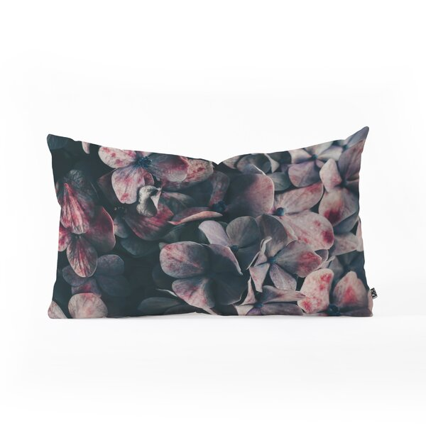 Ingrid Beddoes Hydrangea Moody Lumbar Pillow by East Urban Home