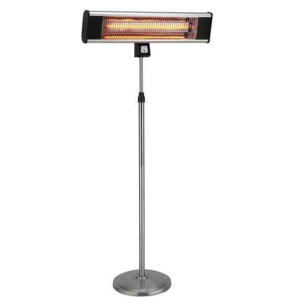 Infrared Pedestal Style 1500 Watt Electric Patio Heater by Hetr