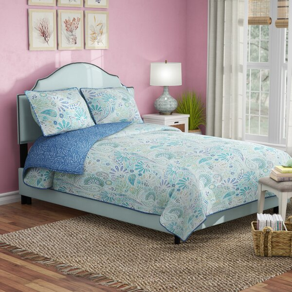 Revley Upholstered Standard Bed by Beachcrest Home