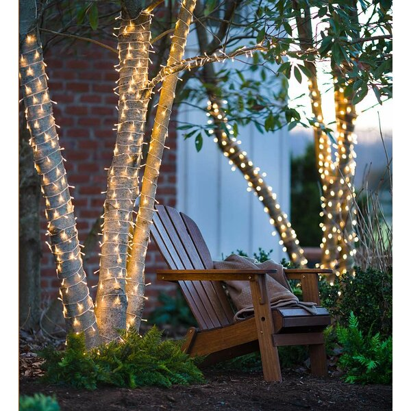Multifunction Twinkle LED on Wire Battery Operated 368 Light String Lights by Plow & Hearth