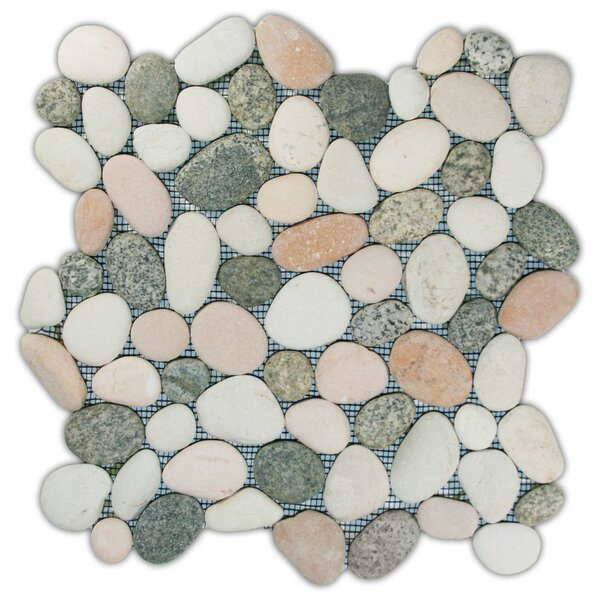 Sumatra Random Sized Natural Stone Mosaic Tile in Mixed Island by CNK Tile