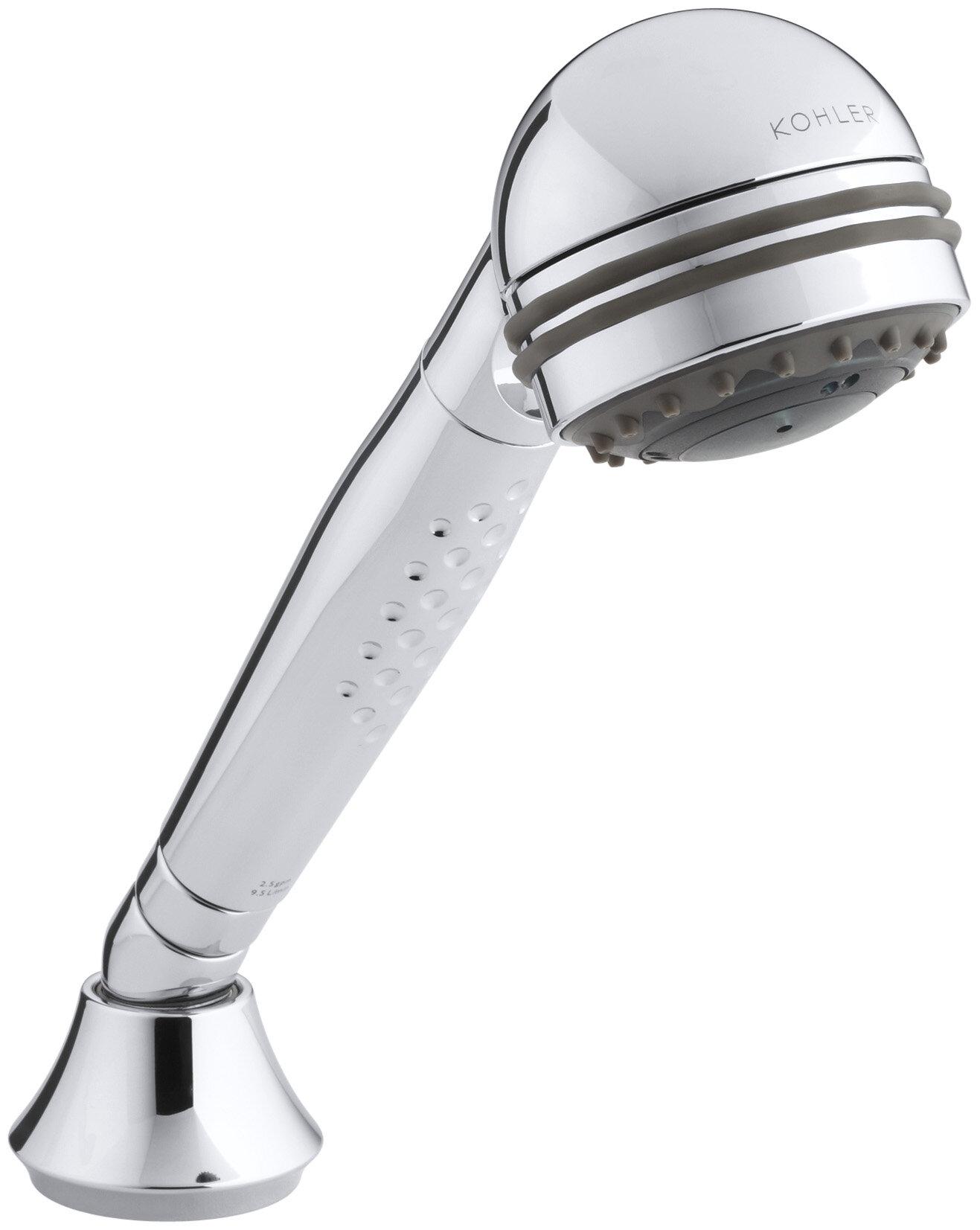 KOHLER Polished Chrome 1-in Head 2.5-GPM 2-Spray Multi-Function Hand Shower