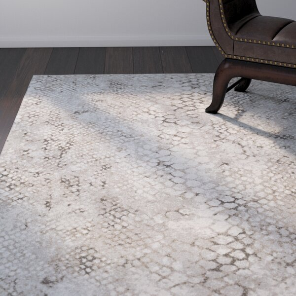 Shepard Taupe/Khaki Area Rug by World Menagerie