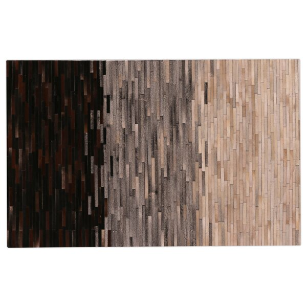 Natural Hide Hand-Tufted Cowhide Brown/Gray/Ivory Area Rug by Exquisite Rugs
