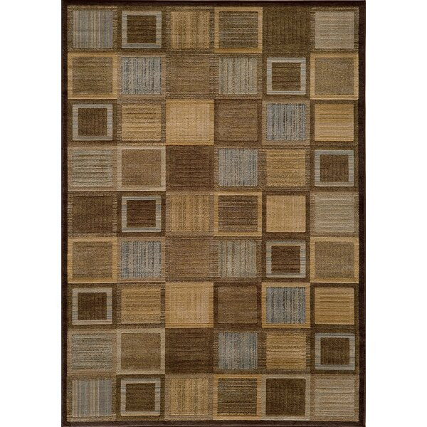 Sherill Brown Abstract Indoor Area Rug by Winston Porter