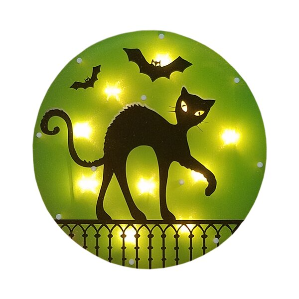 Black Cat and Bats Glazed 10 Light Lighting Accessory by The Holiday Aisle