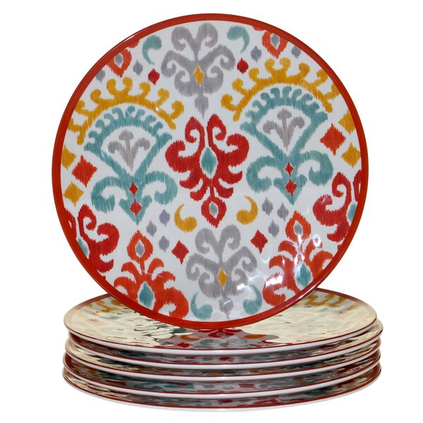 Simen Melamine Dinner Plate (Set of 6) by Bungalow Rose