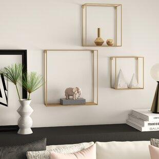 Welty 3 Piece Wall Shelf Set