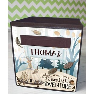 Adventure Personalized Fabric Bin By Toad and Lily