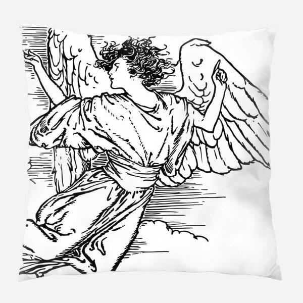 Penix Angel Indoor/Outdoor Canvas Throw Pillow