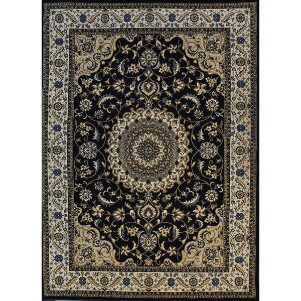 Putney Dark Blue Area Rug by Astoria Grand