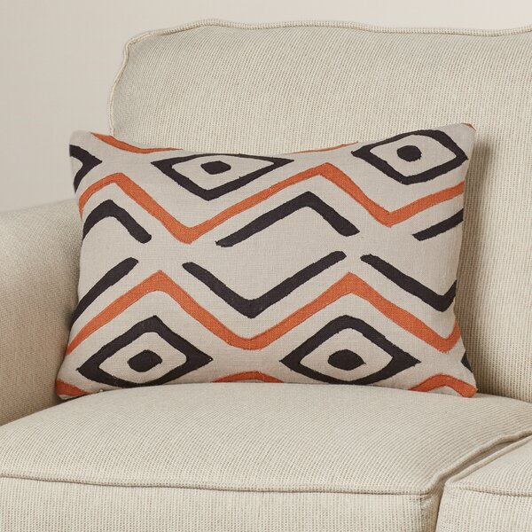 Alona Graphic Print Rectangular Lumbar Pillow by Bloomsbury Market