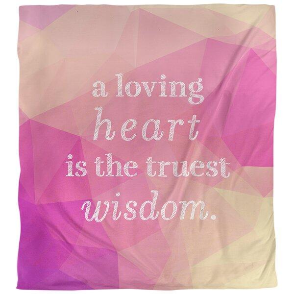 Love & Wisdom Quote Single Duvet Cover