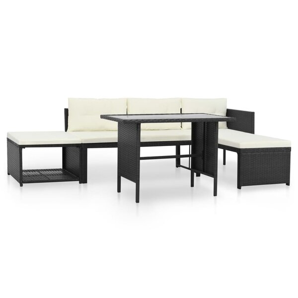 Wetherby Outdoor 4 Piece Sectional Seating Group with Cushions by Ivy Bronx