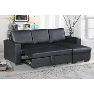 Leather Sectional Sofa Bed In Wayfair Singletary Sleeper Sectional Sectionals Youu0027ll Love