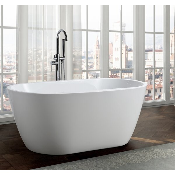 Genoa 59 x 30 Freestanding Soaking Bathtub by Bellaterra Home