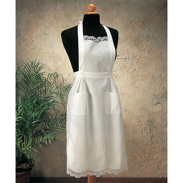 Embroidered and Cluny Apron by One Allium Way