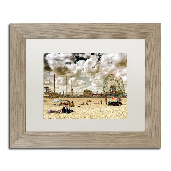 Coney Island Beach by Philippe Hugonnard Framed Photographic Print by Trademark Fine Art