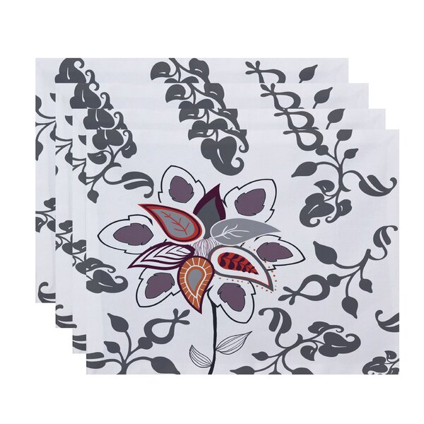 Orchard Lane Paisley Pop Floral Placemat (Set of 4) by Alcott Hill