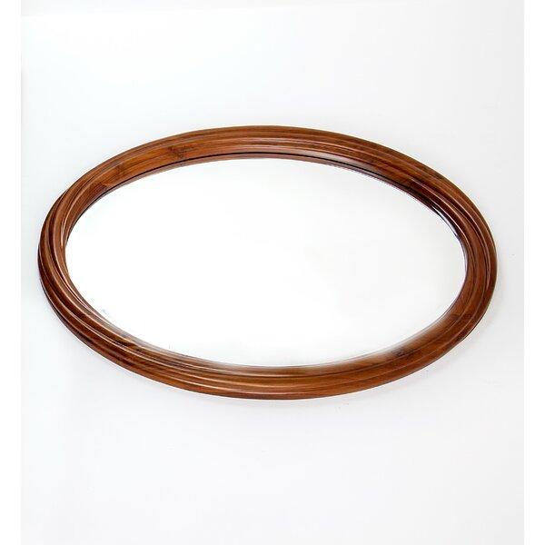 Twisted String Oval Accent Mirror by The Silver Teak
