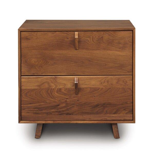 Keaton 2 Drawer Nightstand by Copeland Furniture Copeland Furniture