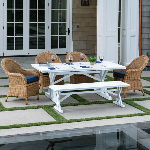 Jaclyn 6 Piece Dining Set with Cushions by Longshore Tides
