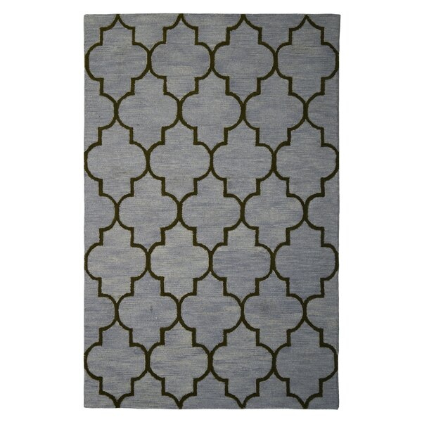 Wool Hand-Tufted Gray/Green Area Rug by Eastern Weavers