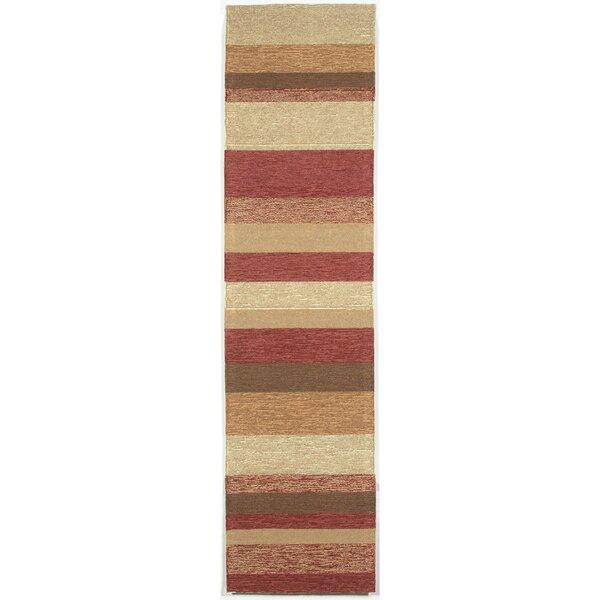 Derby Red Stripe Outdoor Rug by Ebern Designs