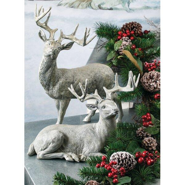 2 Piece Elegant Reindeer Tabletop Figurine Set by The Holiday Aisle