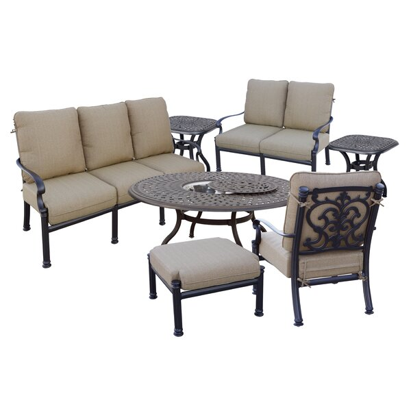 Batista 7 Piece Sofa Set with Cushions by Fleur De Lis Living