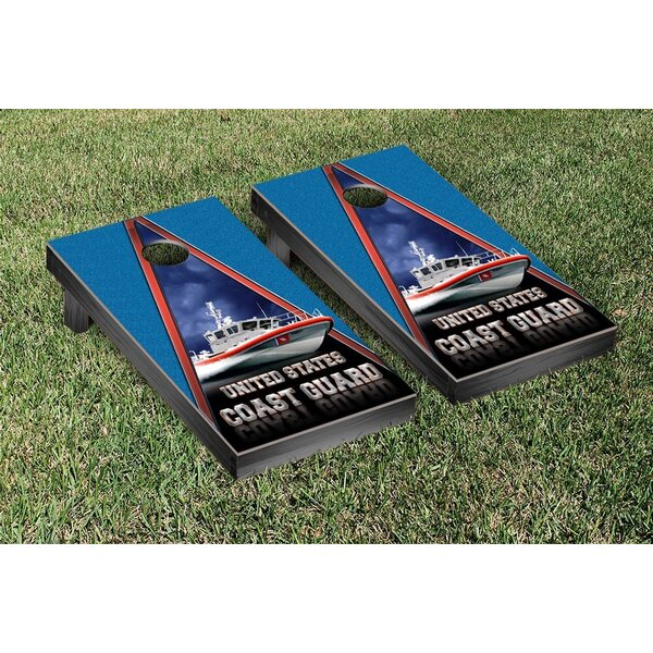 NCAA US Coast Guard PT Boat Version Cornhole Game Set by Victory Tailgate