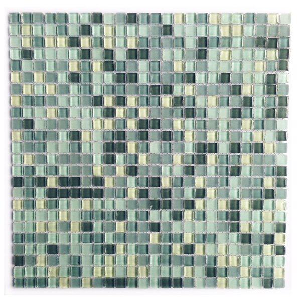 Petite 0.38 x 0.38 Glass Mosaic Tile in Sky Blue by Abolos
