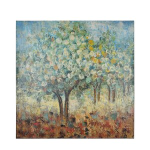 Music Trees Painting Print on Canvas by Red Barrel Studio