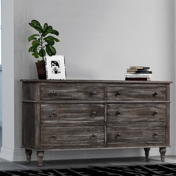 Johnson 6 Drawer Double Dresser by World Menagerie