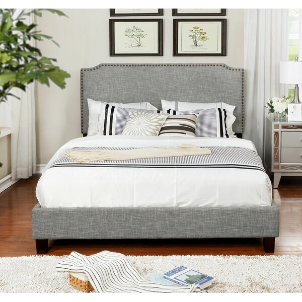 Bridgette Upholstered Platform Bed Charlton Home MBTB1013