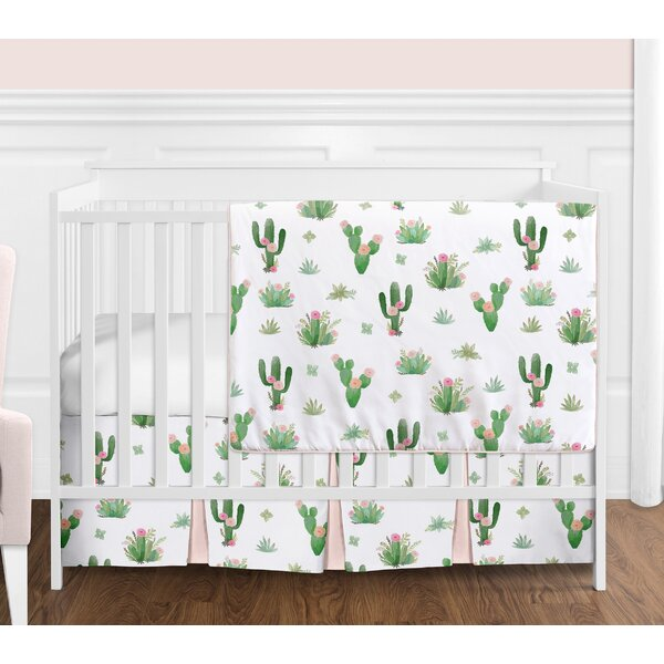 Cactus Floral 4 Piece Crib Bedding Set by Sweet Jojo Designs