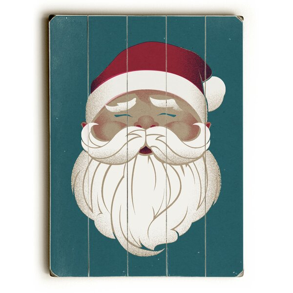 Vintage Santa Graphic Art Plaque by The Holiday Aisle