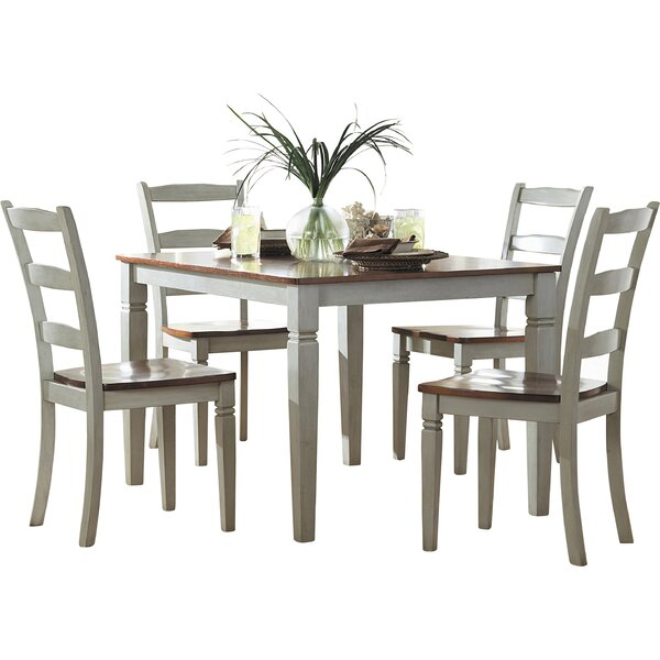 Cambridgeport 5 Piece Dining Set by Beachcrest Home
