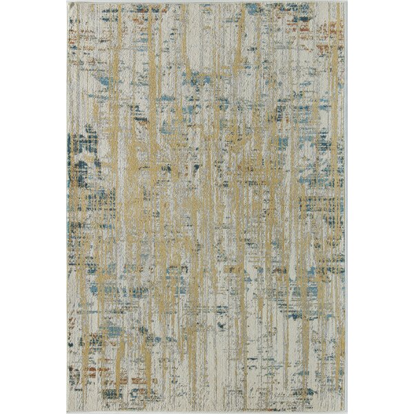 Amelie Ivory/Yellow Area Rug by CosmoLiving by Cosmopolitan