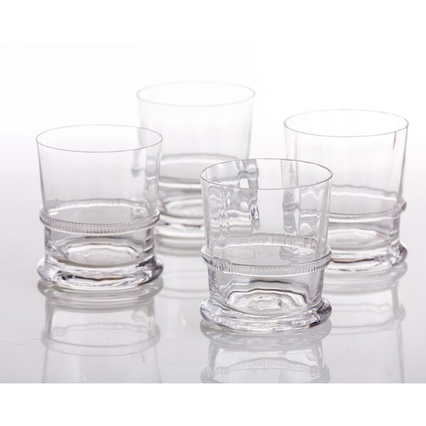 Lionshead Glass Double Old Fashion Lion (Set of 4) by Abigails
