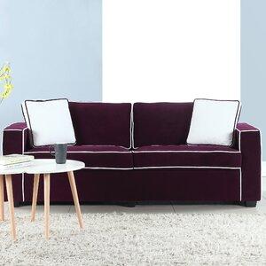 Arjun Modern Velvet Fabric Sofa Varick Gallery