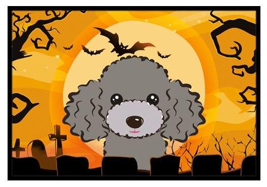 Halloween Poodle Doormat by Caroline's Treasures