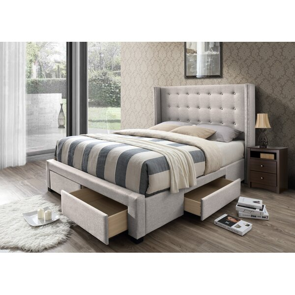 Kerens Upholstered Storage Standard Bed by Greyleigh