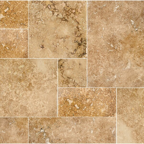 Modena Random Sized Travertine Field Tile in Beige/Gold by Parvatile