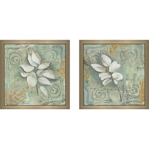 Still Water Reflections' 2 Piece Framed Acrylic Painting Print Set Under Glass by Ophelia & Co.