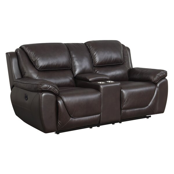 Rish Leather Reclining Loveseat by Latitude Run