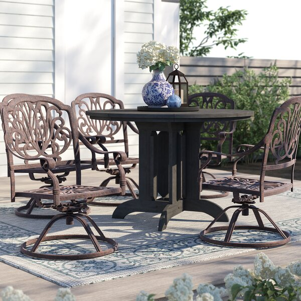 Lebanon Swivel Patio Dining Chair with Cushion by Three Posts Three Posts