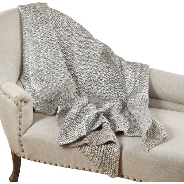 Hiran Knitted Design Throw Blanket by Willa Arlo Interiors